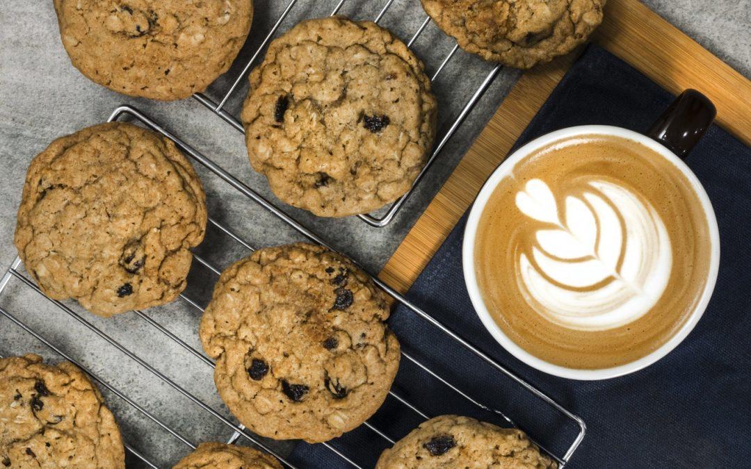 Raisin and Almond Cookies